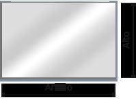 espejos rectangular