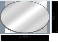 espejos ovalado