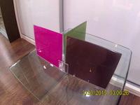Uniones de metacrilato para espejos, cristales y vidrios de espesor máximo de 5mm.