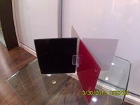 Uniones de metacrilato para vidrios, espejos y cristales de un espesor máximo de 5mm.