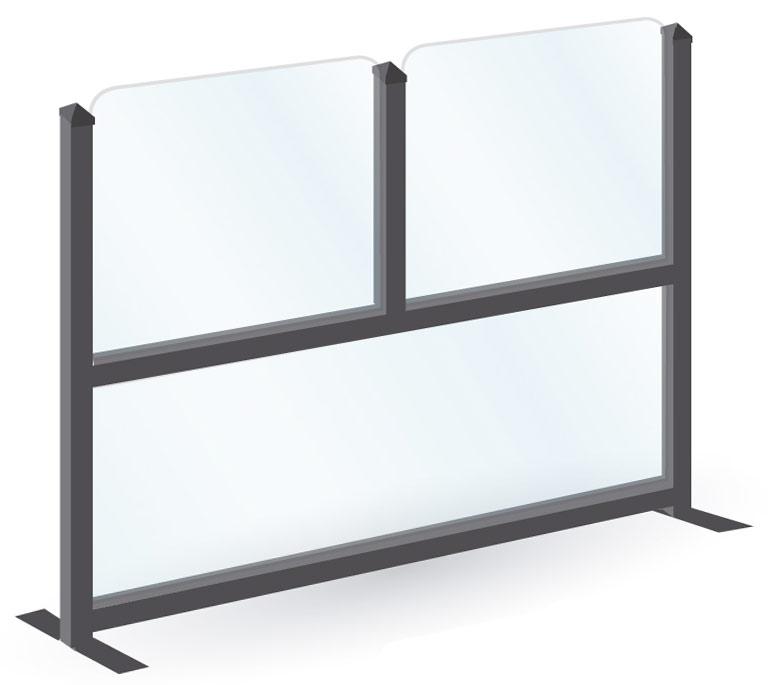Paraviento de cristal (modelo Italia vidrio)
