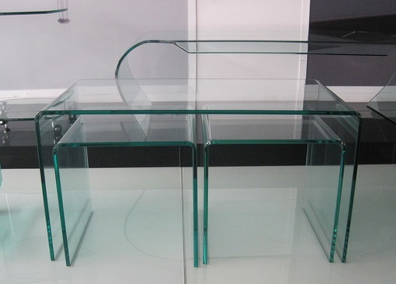 Mesas auxiliares de diseño tipo nido - 3 unidades - (una rectangular y dos cuadradas)
