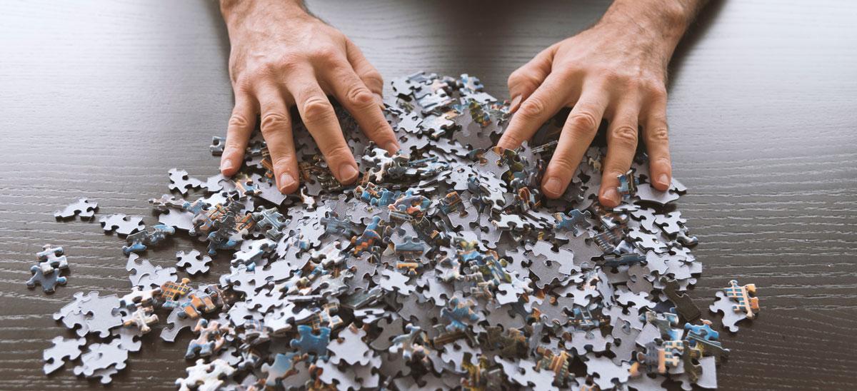 enmarcar puzzles grandes