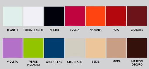 colores vidrios lacados