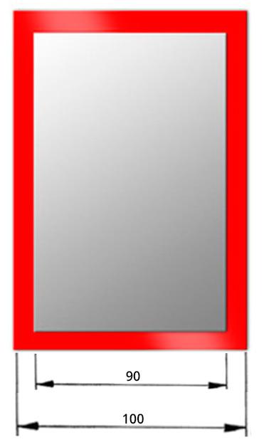 espejo rectangular lacado