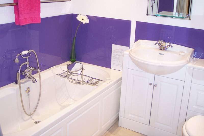 Vidrio decorativo lacado para cubrir pared de baño