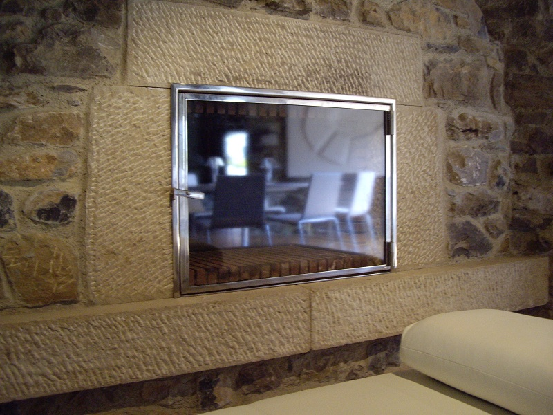 Puerta de hierro con vidrio para chimeneas y estufas - Puertas de vidrio para chimeneas ...