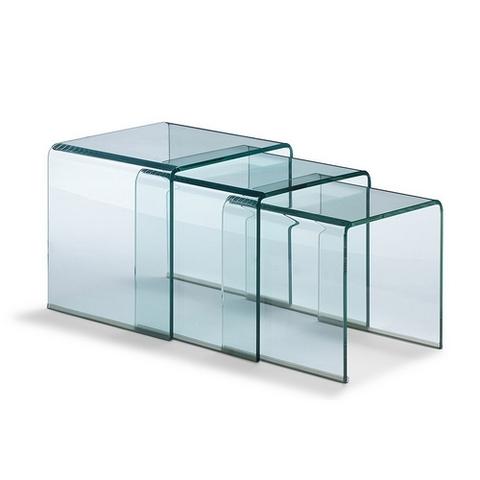 Cristal a medida - Mesas trillizas - Cristal a Medida