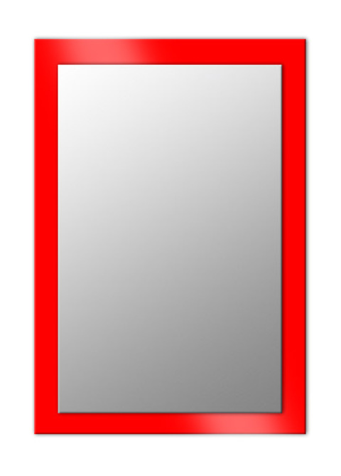 Espejo rectangular sobre cristal lacado
