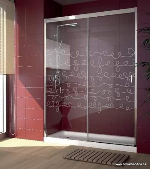 Mamparas Para Baño De Policarbonato:fijos 2 deslizantes mampara de ducha para esquina 2 fijos 2