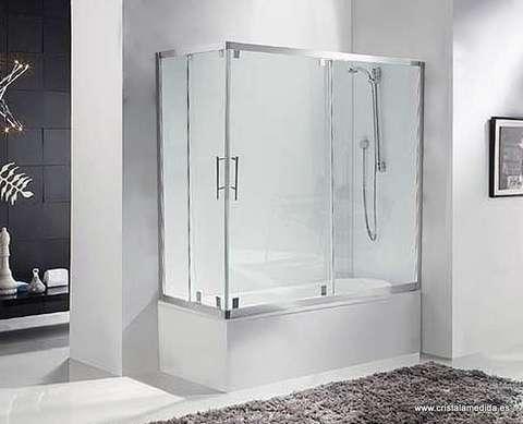 Cristal a medida productos mamparas mampara para - Instalar una mampara de ducha ...