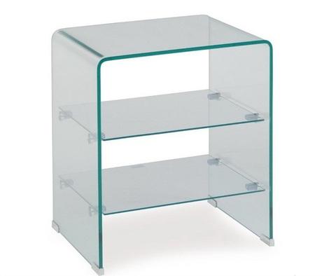 Cristal a medida - Mesa Cartago transparente - Cristal a Medida