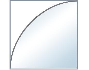 Balda Esquinera Redondeada de 6 mm