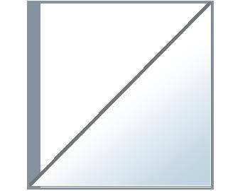 Balda Esquinera Recta de 6 mm