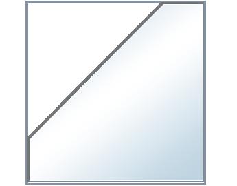 Balda Esquinera Chaflán de 6 mm