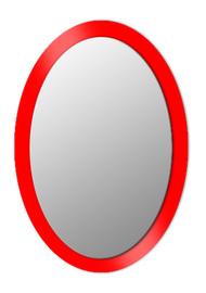 Espejo ovalado sobre cristal lacado