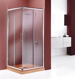 Mampara para ducha angular 2 fijos + 2 deslizantes