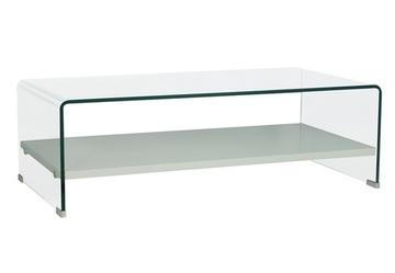 Cristal a medida - Mesa de cristal templado curvada.