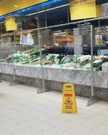 Pantalla de Protección para Supermercados